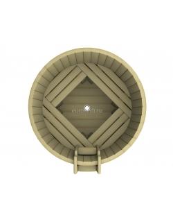 Круглая купель 1200 x1200x1200 мм